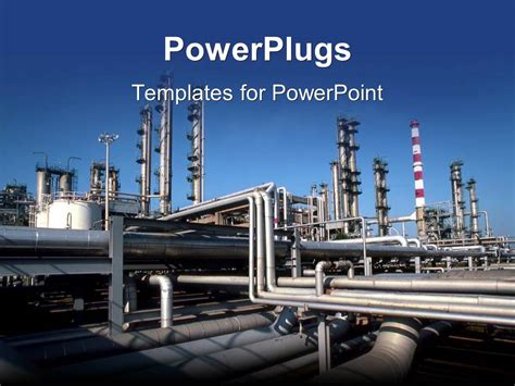 industrial powerpoint templates powerpoint template industrial pipes at a production