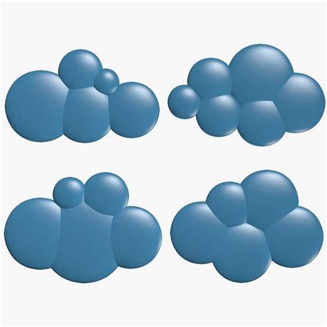 3d cloud cartoon clouds 3d model