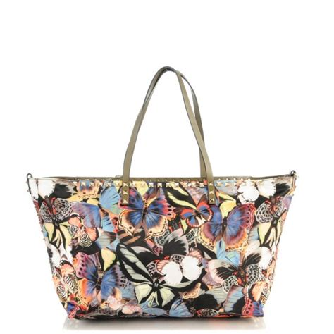 Chopard Borsa Butterfly Purse by Valentino Camo Butterfly Rockstud Tote Multicolor 137246