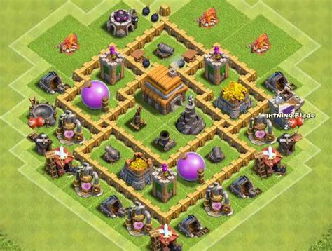 town hall 5 best base hd pic kumpulan peta base clash of clans town hall 5 pedialicious