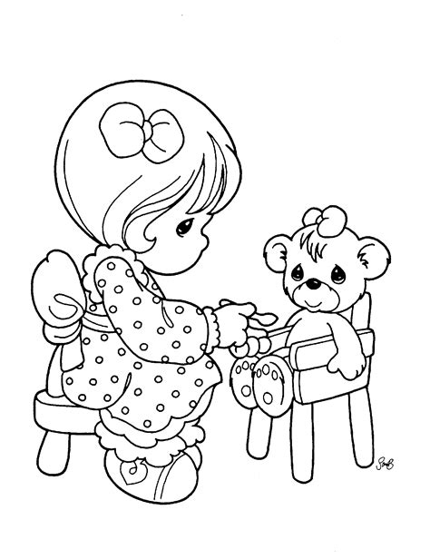 precious moments baby girl coloring pages free