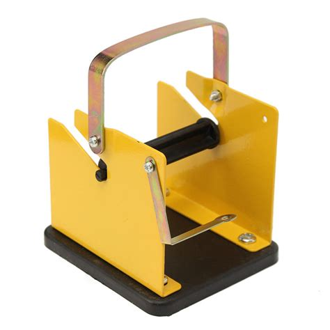 iron soldering welding tool stand solder wire stand yellow