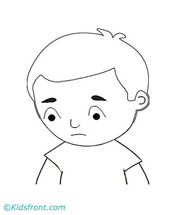 sad person coloring page pin sad coloring pages printable on pinterest