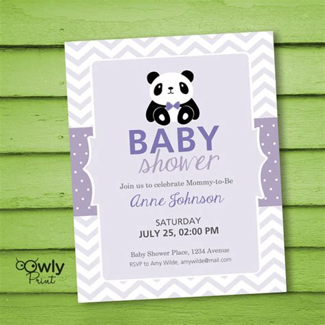 Baby Shower Personalized Invitations by Panda Baby Shower Ideas Baby Ideas