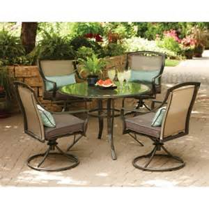 aqua glass 5 patio dining set seats 4 walmart - 5 Patio Dining Sets