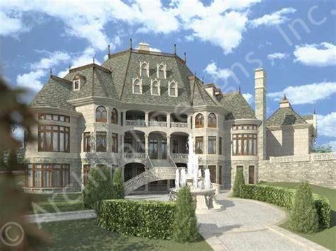 eplans chateau house plan european inspired luxury chateau novella luxury house plan small castle plan