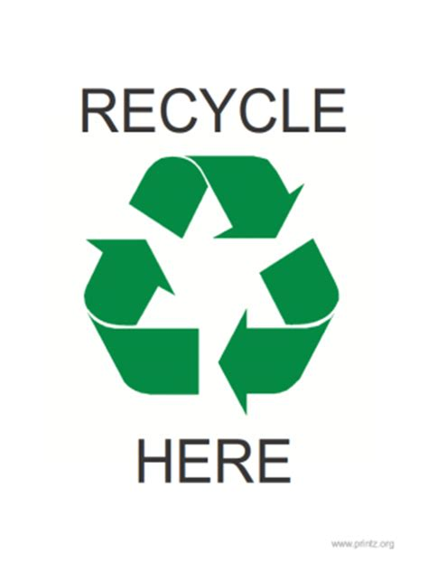 Recycle Sign Printable