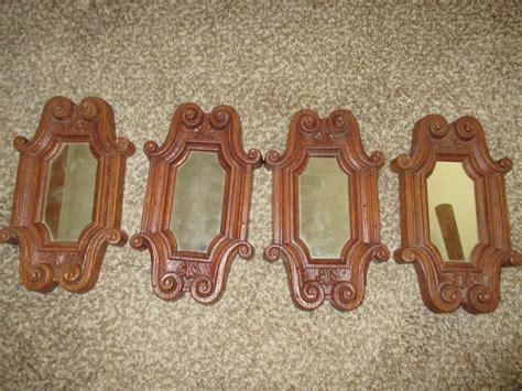 woods vintage home interiors vintage home interiors carved wood look mirror set 4