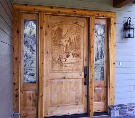 Carved Front Doors 1000 Images About Carved Entry Doors On