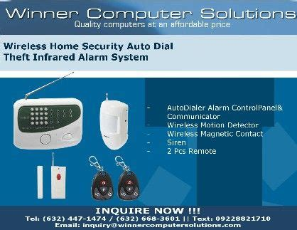 wireless home security auto theft proof infrared