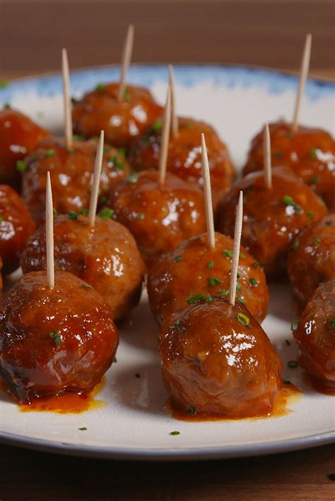 slow cooker mini meatballs delishcom