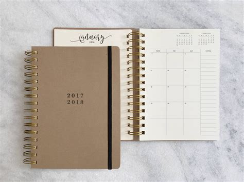2018 academic planner weekly and monthly calendar schedule organizer and journal notebook with blossoms covering books 2017 2018 academic planner student planner weekly