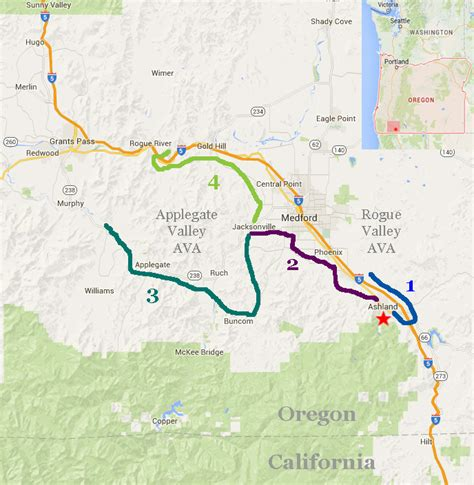 map of oregon day southern oregon wine country bicycle tour day 3 via bike