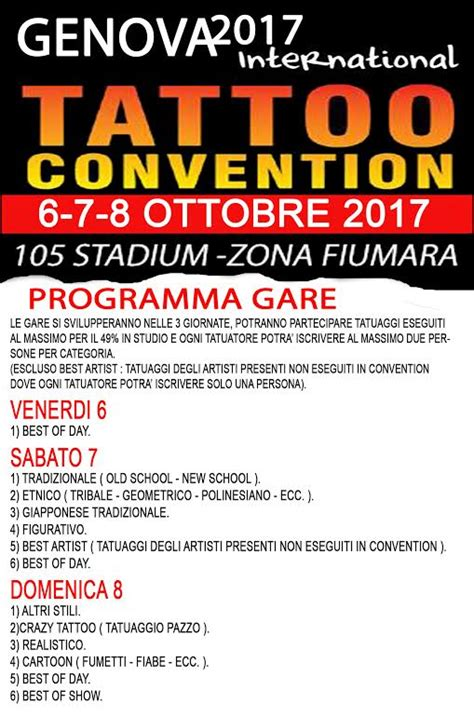 tattoo convention galveston 2017 programma tattoo convention genova 2017