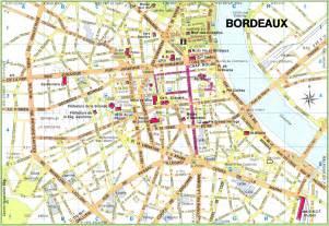 map of city bordeaux city center map