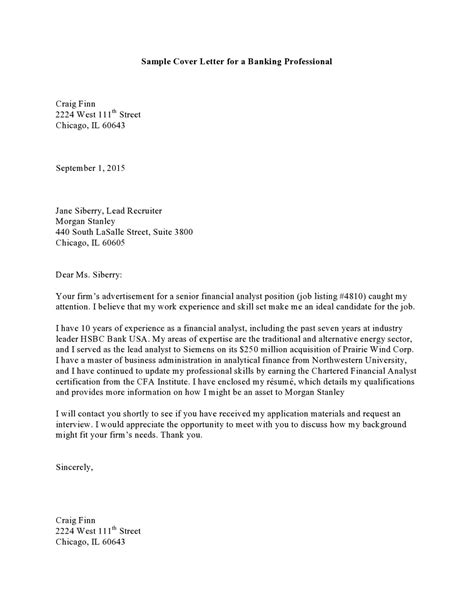 cover letter professional sample  templates