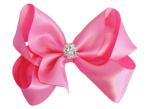 Set U Can See Bow Pink satin bow with sparkly centre by bows notonthehighstreet