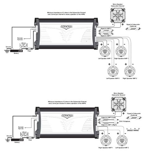 Power Lifier Kicker dual 400 watt wiring diagram get free image about