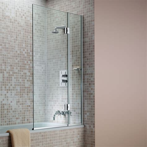 hinged bath shower screens matki hinged bath screen uk bathrooms