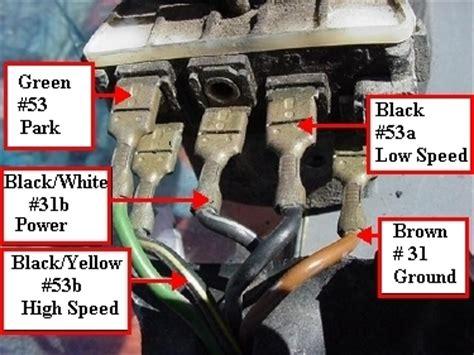 wiper motor wiring diagram shoptalkforums