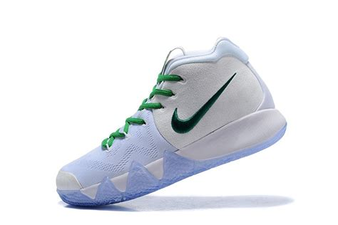 celtics basketball shoes 2018 nike kyrie 4 celtics pe white green basketball