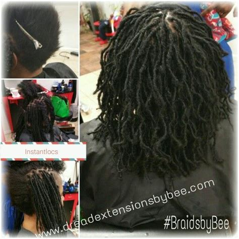 dreadlock extensions on short hair instantloc sisterloc dread extensions with human hair