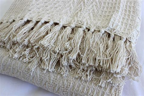 Mukena Travel Silky Cotton 10 cotton waffle throw rug blanket soft weave bed sofa cover