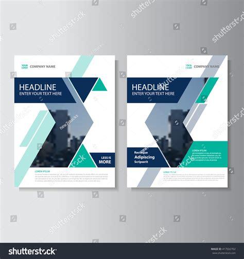 majalah web design blue green vector annual report leaflet stock vector