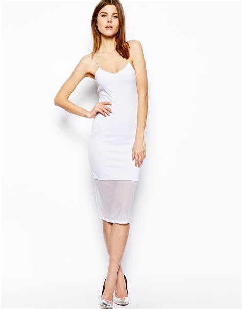 Whiens Dress Anak 03 lyst asos textured mesh cami midi dress in white