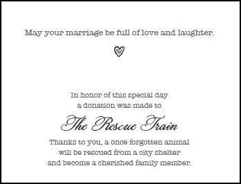 Marriage Gift Card Message - wedding gift cards the gift of love giving the gift of life to dogs and cats