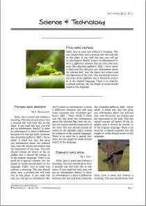 scientific paper template word 2010 best photos of magazine article template magazine