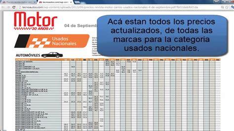 revista motor precios de vehiculos precios de carros usados nacionales en colombia youtube