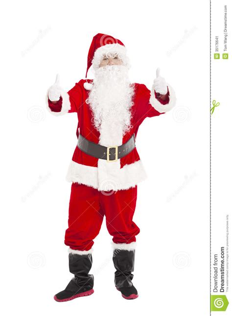 santa claus thumbs up santa claus with thumb up stock image image 35176641
