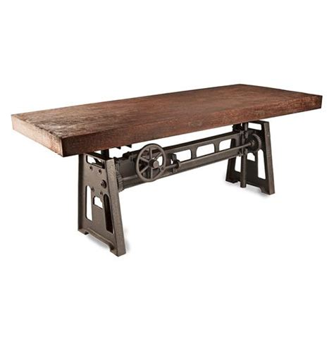 industrial style dining room tables gerrit industrial style rustic pine iron dining table