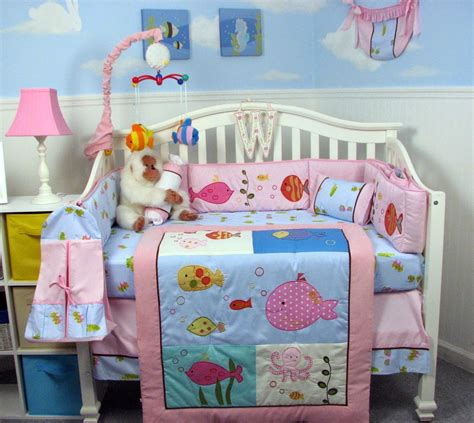 Fish Themed Crib Bedding Sets by The Right On Vegan Baby Room Decorating