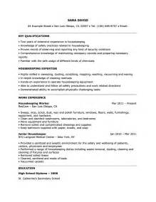 Housekeeper Sample Resume housekeeping resume examples quotes