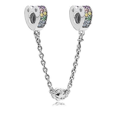 cadena pandora plata pandora cadena multicolor circonita plata oro vivo