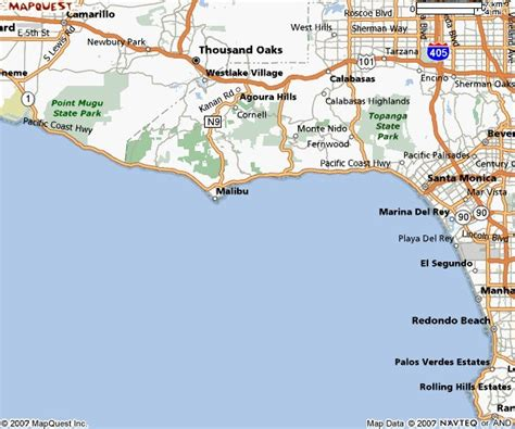 california map malibu maps of malibu california