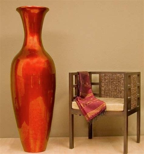 tall floor vases home decor mahogany red large floor vase 595 home decor pinterest