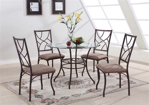 kings brand black metal dining room chair with vinyl seat 5 best glass kitchen tables easy to clean and care