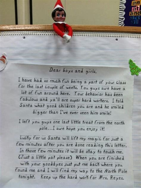 On The Shelf Letter To Class by 17 B 228 Sta Id 233 Er Om Goodbye Letter P 229
