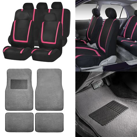 pink and gray car seat covers black pink car seat covers with gray carpet floor mats