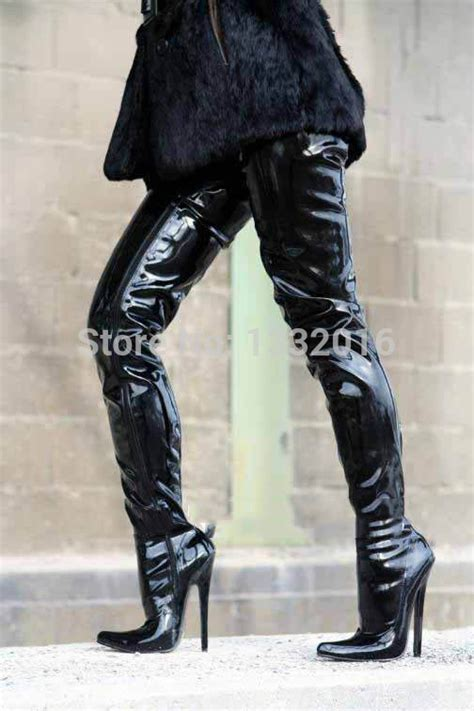 shiny black boots promotion shopping for