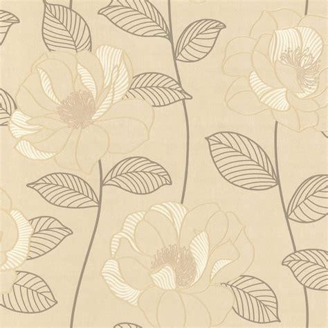 Cream And Brown Pattern Wallpaper | arthouse mystique floral wallpaper cream brown beige