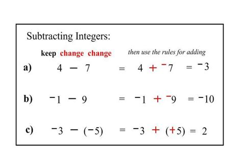 addition and subtraction of integers worksheets with