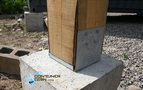 exterior education center design with cabin foundation piers and pier and beam foundation also framing of the shipping container cabin project summer