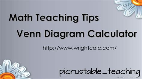 math teaching tips venn diagram calculator wrightcalc