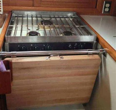 stove covers for counter space concrete countertops add counter space the boat galley