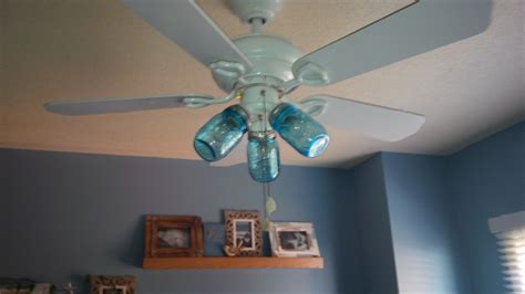 ceiling fan with jar lights blue jar ceiling fan pinspired