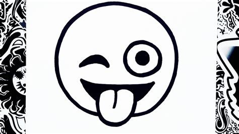 imagenes emoji para imprimir como dibujar un emoji sacando la lengua how to draw